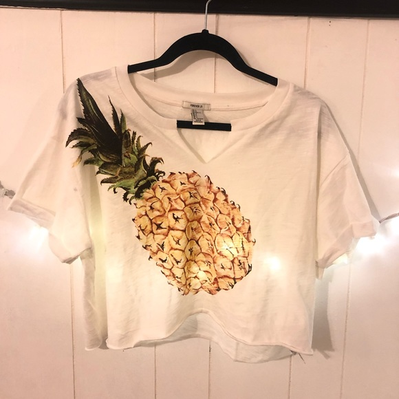 Forever 21 Tops - pineapple cropped tee (FINAL PRICE)